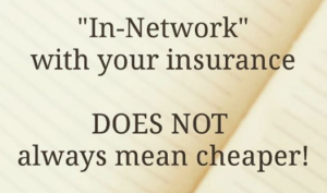 In network is not always cheapest