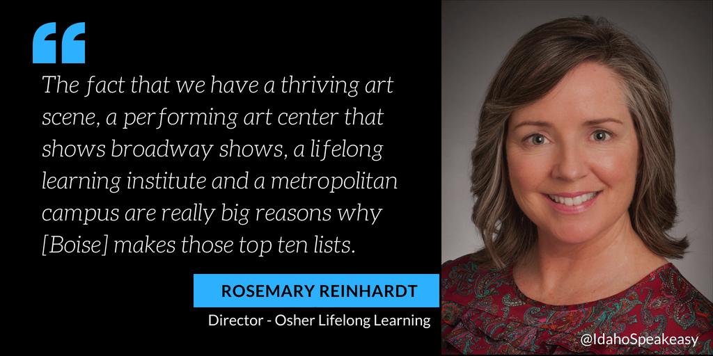 Rosemary Reinhardt on Idaho Speakeasy