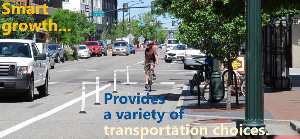 Smart Growth means transportation choices