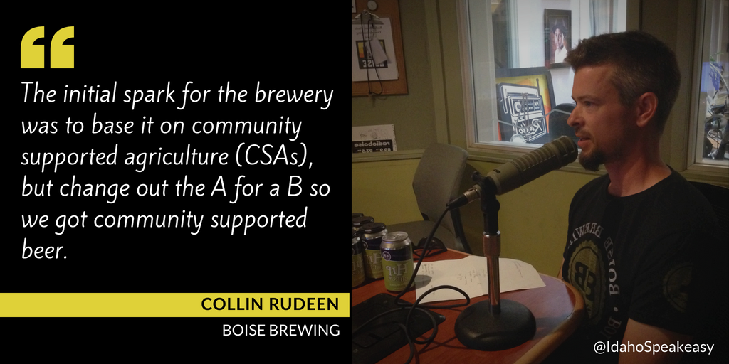 Collin Rudeen on Idaho Speakeasy