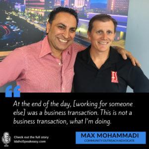 Max Mohammadi- Idaho Speakeasy