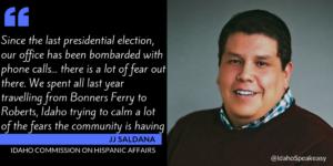 JJ Saldana & the Idaho Commission on Hispanic Affairs