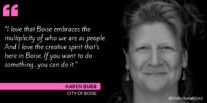 Karen Bubb & the City of Boise
