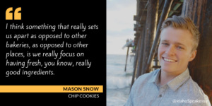 Mason Snow & Chip Cookies