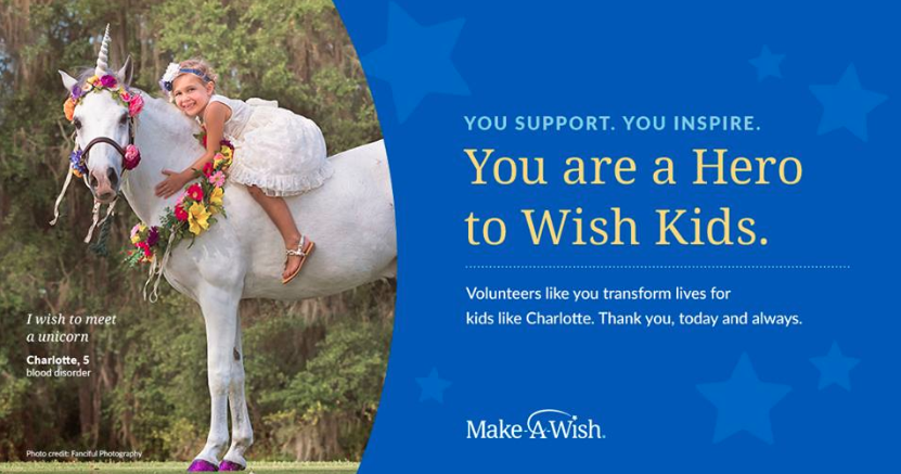 Volunteers of Make-a-wish